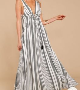 NWT Vici / Red Dress Boutique Striped Maxi Dress